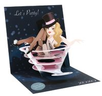 Pop Up 3D Karte Geburtstag Grußkarte Junggesellen Party Boys Girl 13x13cm