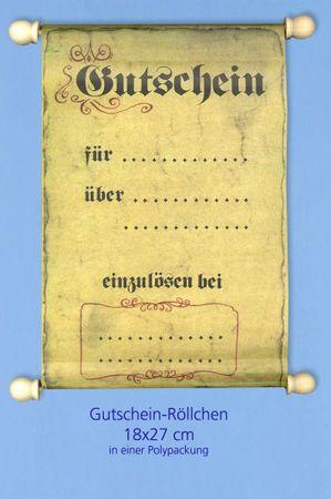 Gutschein-Rolle im Urkunden Design Polypackung 18x27cm
