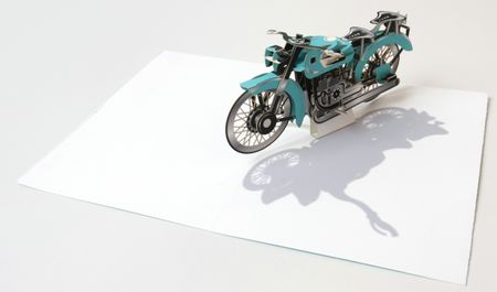 UWP LUXE Geburtstag Pop UP 3D Laser Karte Grußkarte Motorrad Bike 17x12cm