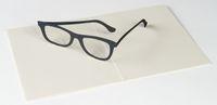 UWP LUXE Geburtstag Pop UP 3D Laser Karte Grußkarte Brille Durchblick 14x11cm