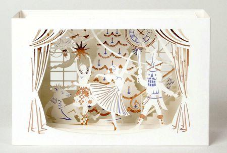 UWP LUXE Weihnachten Pop UP 3D Laser Karte Grußkarte Nußknacker Ballet 20x10cm