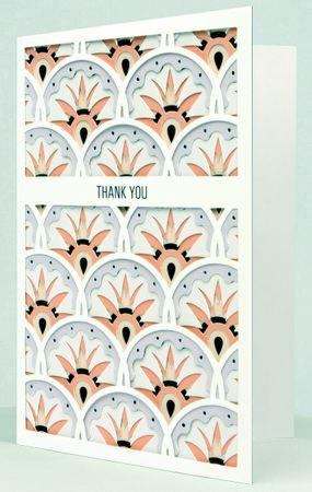 UWP LUXE Geburtstag Pop UP 3D Laser Karte Grußkarte Danke Rosa 17x12cm