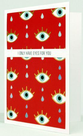UWP LUXE Geburtstag Pop UP 3D Laser Karte Grußkarte Augen für dich 17x12cm