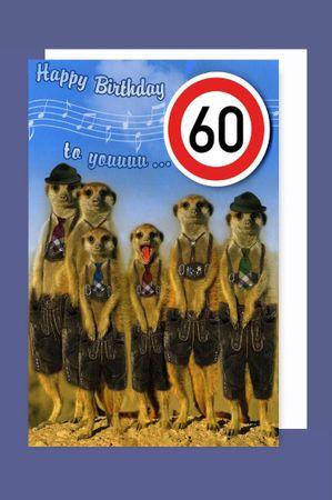 Bayern Grußkarte 60 Geburtstag Karte Humor Applikation Stopschild C6
