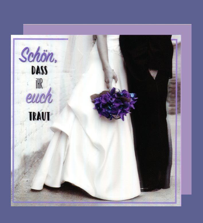 Hochzeit 3D Karte Grußkarte Heirat Kleid Anzug 15x15cm