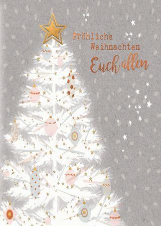 6XMS144  Swarovski Elements Grußkarte Tannenbaum 17x12cm