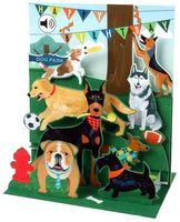 SS081 Sight´n Sound Karte Hunde Garten Party 18x13 cm