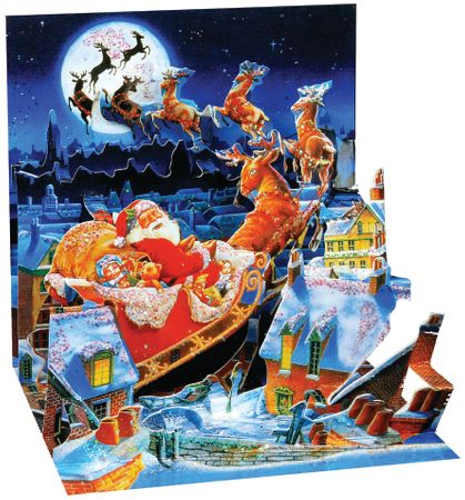 Display Card for 0180 Santa's Sleigh Ride