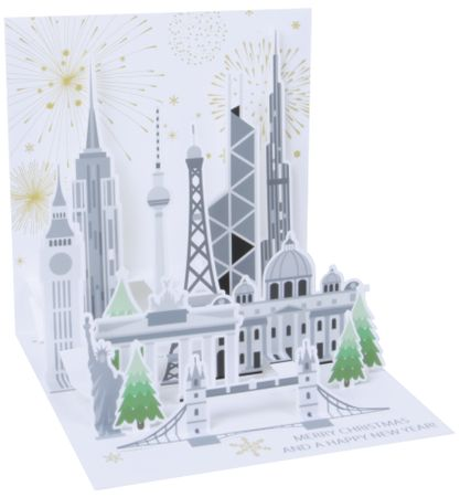 1311 Treasure Karte Weihnachten Global New Year 13x13 cm