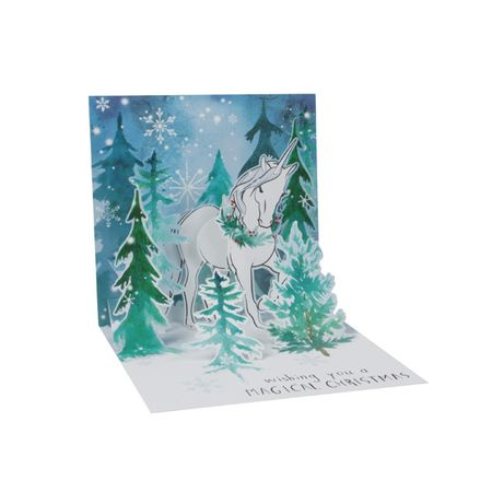 TR303S Mini Musterkarte Magical Christmas / Einhorn 7,6x7,6cm