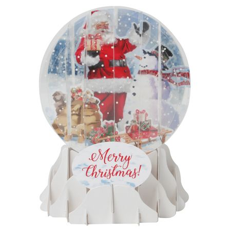-NEW Display Card for SGM034 Santa and Snowman