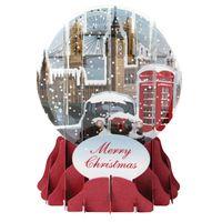 SGM035S Schneekugel Musterkarte London im Winter 9x13cm