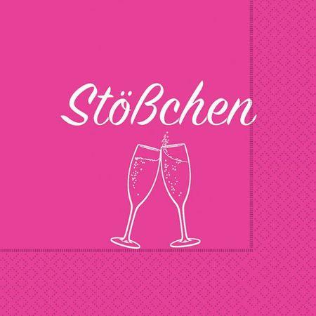 Cocktail Servietten Geburtstag Feier Sekt Empfang 20 Stück 3-lagig 25x25cm