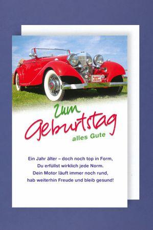 Geburtstag Oldtimer Karte Grußkarte Oldie but Goldie  16x11cm