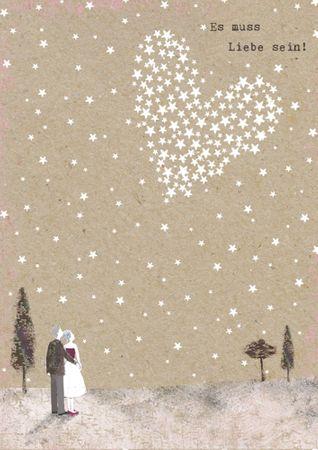 DE038  B6 Grußkarte Es muss Liebe sein!