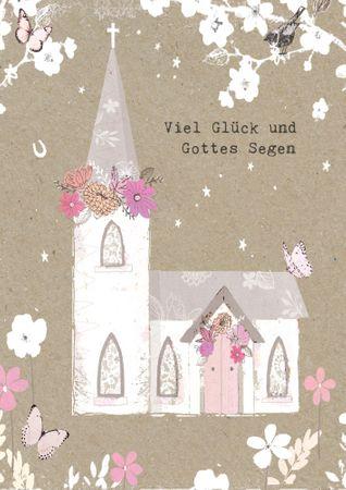 DE053  B6 Grußkarte Viel Glück und Gottes Segen