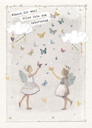 DE466  B6 Grußkarte Schmetterlinge
