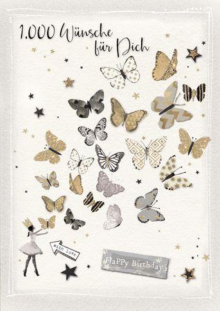 DE501  B6 Grußkarte Schmetterlinge