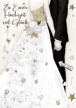 DE507  B6 Grußkarte Hochzeit