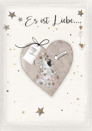 DE511  B6 Grußkarte Hochzeit