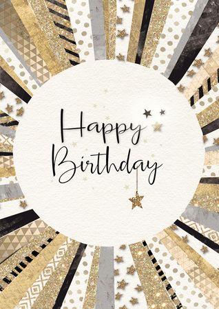 DE512  B6 Grußkarte Happy Birthday