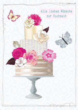 DE365  B6 Grußkarte Alle lieben Wünsche zur Hochzeit