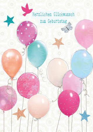 DE369  B6 Grußkarte Herzlichen Glückwunsch zum Geburtstag