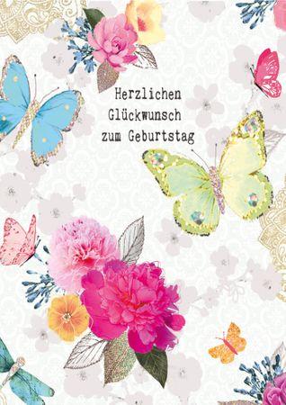 DE382  B6 Grußkarte Herzlichen Glückwunsch zum Geburtstag