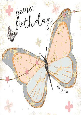 DE528  B6 Grußkarte Schmetterling