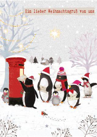XDE029  B6 Weihnachtskarte Ein lieber Weihnachtsgruß von uns