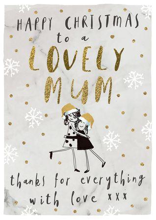 XDE068  B6 Weihnachtskarte Lovely Mum