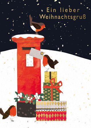 XDE079  B6 Weihnachtskarte Briefkasten