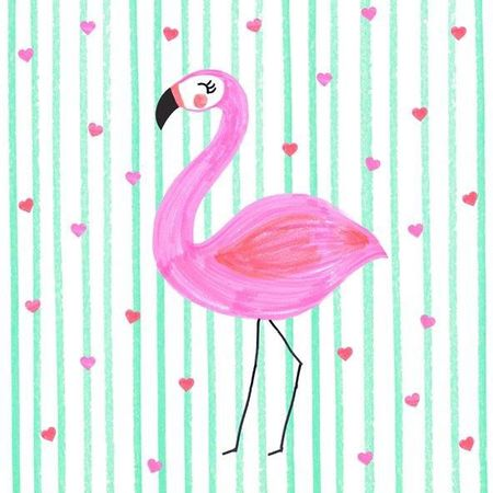 Servietten Tischdeko Geburtstag Flamingo Herzen 20 Stück 3-lagig 33x33cm