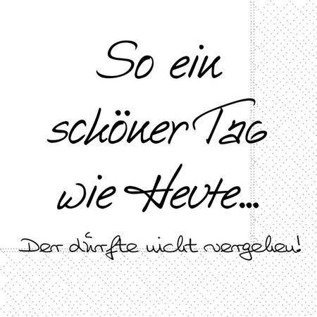 Servietten Tischdeko Geburtstag Text Essen Tag Heute 20 Stück 3-lagig 33x33cm