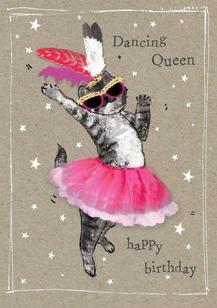 Humor Geburtstag Karte Glitzersteine Grußkarte Tanz Queen 17x12cm