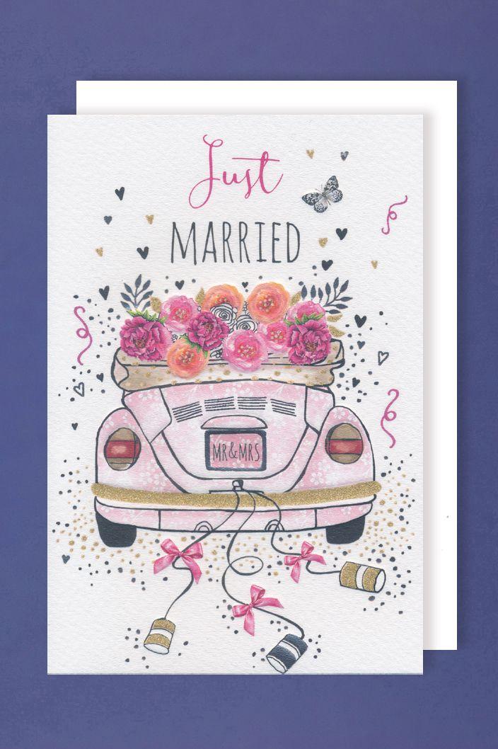 Hochzeit Karte Grußkarte Präge-Foliendruck MR&MRS ...