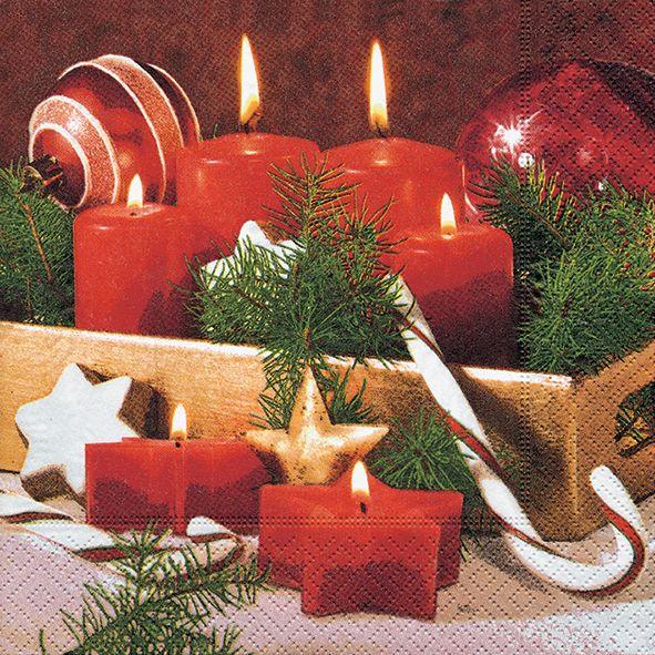 Servietten Weihnachten Winter Advent Tablett 20 St 3-lagig 33x33cm