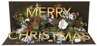 Pop Up 3D Musik Weihnachten Panorama Karte PopShot Tannenzweig 23x10cm
