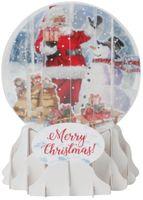 Pop Up 3D Weihnachten Schneekugel Grußkarte PopShot Nikolaus 9x13cm
