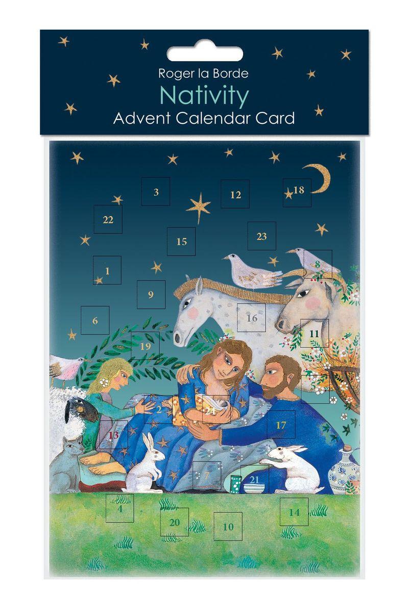 Adventskalender Roger-la-Borde Karte Weihnachten Christlich Jesus 17x12cm