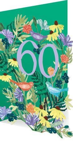 60 Geburtstag Roger-la-Borde Karte Lasercut Grußkarte Natur 17x12cm
