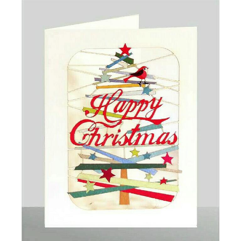 Weihnachten Laser Cut Karte Grußkarte Christmas Baum 17x12cm 514297
