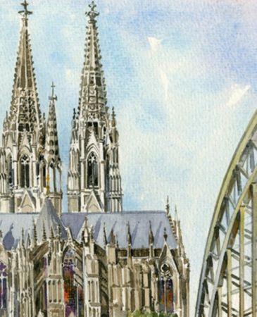 Köln Serviette Stadt Dom Kirche 20 Stück 3-lagig 33x33cm