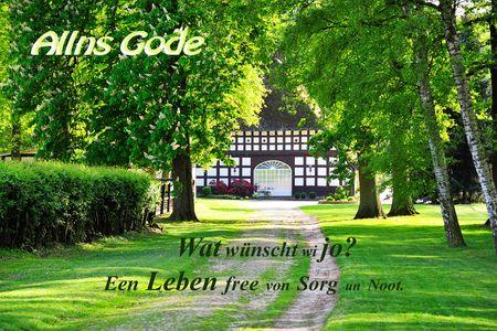 Plattdeutsch Geburtstag Yabue Foto-Karte Grußkarte Bauernhof 16x11cm