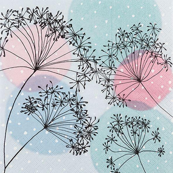 Servietten Tischdeko Natur Sommer Frühling Pusteblumen 20 St 3-lagig 33x33cm