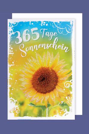 Geburtstag Karte PIN Anstecker Grußkarte Applikation Smily 16x11cm