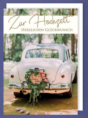 Riesen Karte Hochzeit Grußkarte Foliendruck Just Married Reise A4