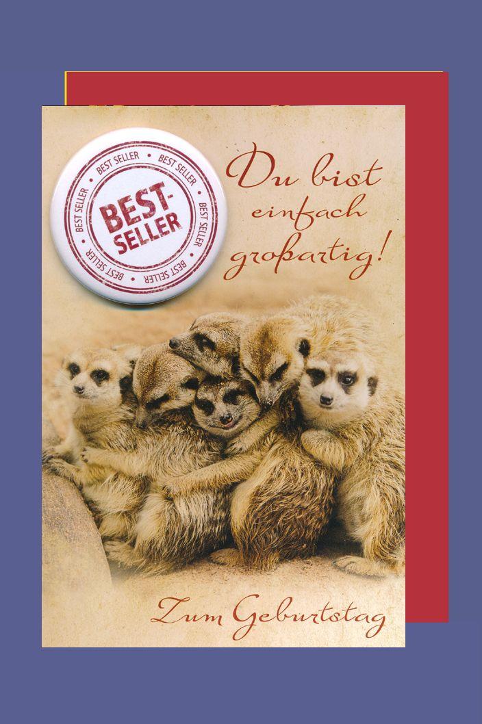 Button Geburtstag Karte Grußkarte Humor Bestseller 16x11cm