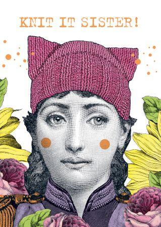 Frauen Geburtstag Karte pabuku skurille Grußkarte Mütze Hut 17x12cm