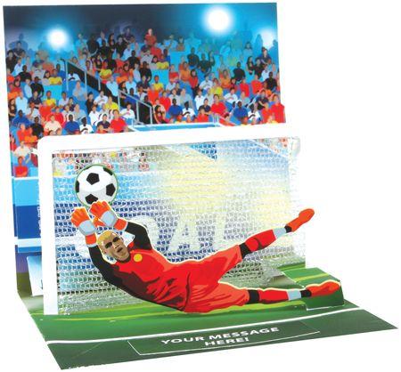 Musterkarte 1346S Tor Fußball Format 13x13cm